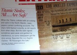 Titanic Passengers Safe