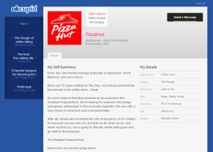 OkCupid - PizzaHut